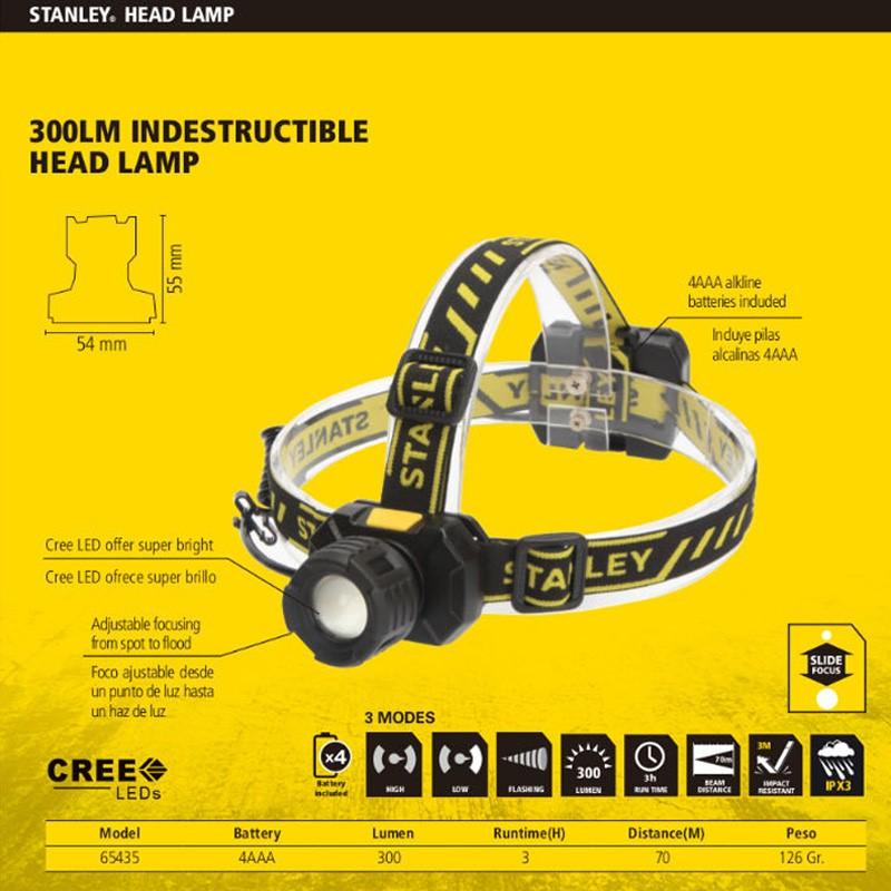 LINTERNA LED DE CABEZA RECARGABLE INDESTRUCTIBLE 65435
