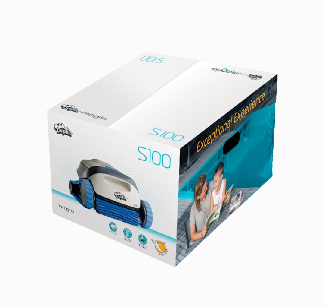 Caja de robot de piscina Dolphin S100