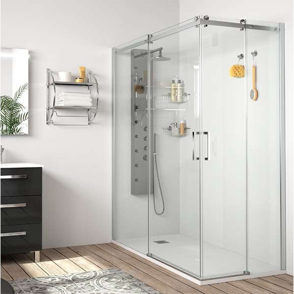 Mampara de ducha angular corredera