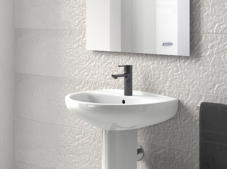 Mezclador monomando negro para lavabo