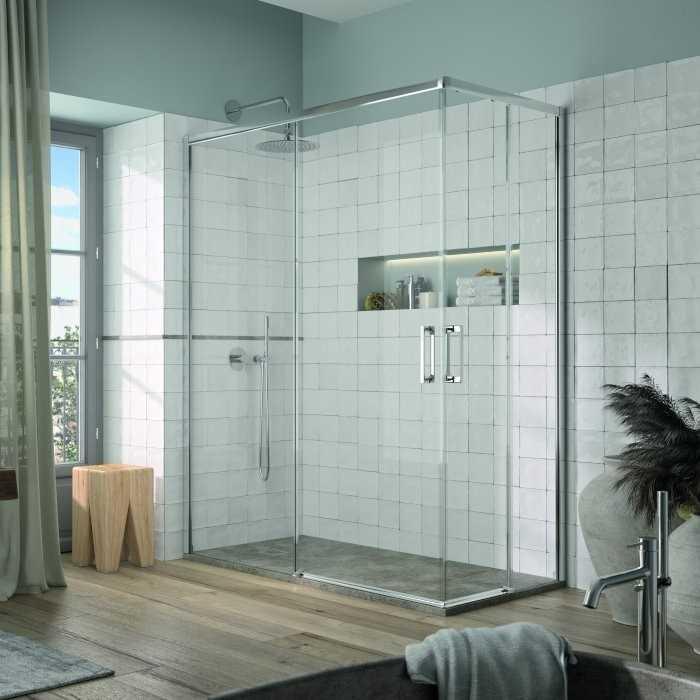 Mampara de ducha angular